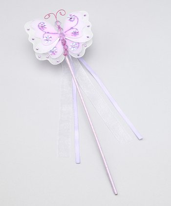 Purple Butterfly Wand