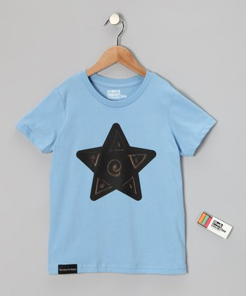 Baby Blue Star Chalkboard Tee - Toddler & Kids