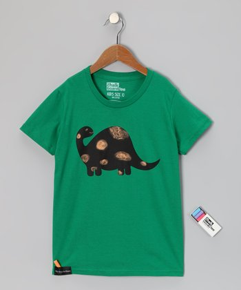 Kelly Green Brontosaurus Chalkboard Tee - Toddler & Kids