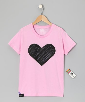 Pink Heart Chalkboard Tee - Toddler & Kids