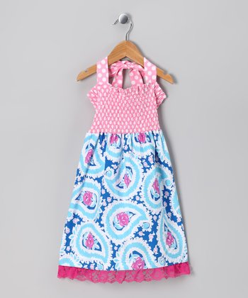 Pink Cotton Candy Shirred Dress - Toddler & Girls