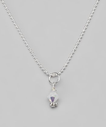 Clear Swarovski Crystal Ball Chain Necklace