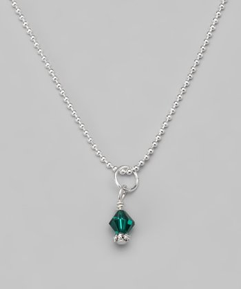 Emerald Swarovski Crystal Ball Chain Necklace