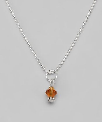 Topaz Swarovski Crystal Ball Chain Necklace