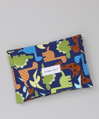 Navy Dinos Diaper Clutch