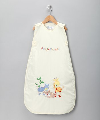 Cream Jungle Friend Sleeping Sack - Infant & Toddler