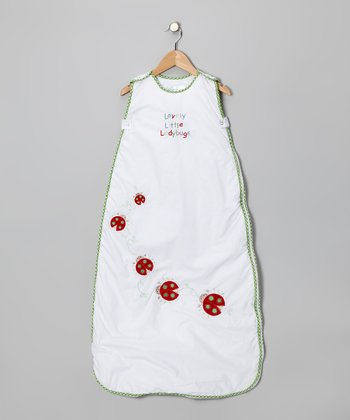 White Lovely Little Ladybugs Sleeping Sack