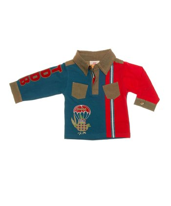 Peacock Pocket Organic Polo - Infant