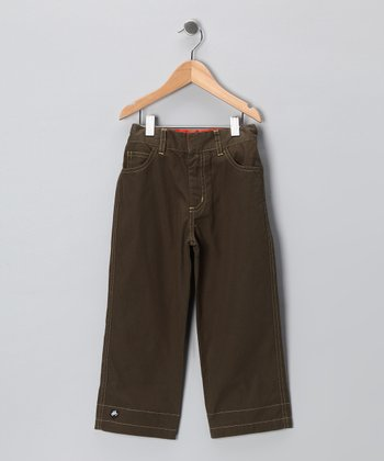 Olive Achtung! Trousers - Infant, Toddler & Boys
