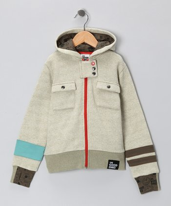 Light Olive Road Trip Hoodie - Toddler & Boys