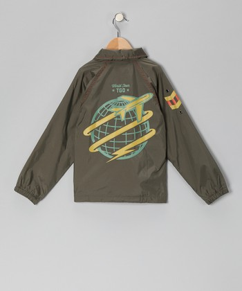 Olive 'World Tour' Jacket - Infant, Toddler & Boys