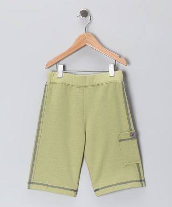 Celery Green Surf Bored Shorts - Boys