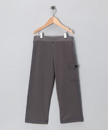 Steel Gray Straight & Narrows Pants - Boys