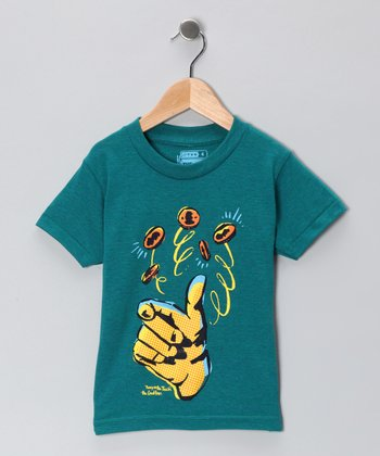Teal Heads 'n' Tails Tee - Boys