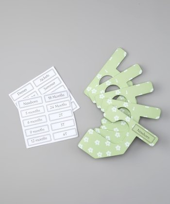 Green & White Flower Closet Divider Set - Infant & Toddler