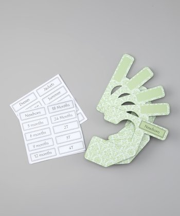 Green & White Damask Closet Divider Set - Infant & Toddler