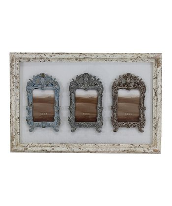 White Ornate Collage Frame