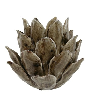 Gray Blossom Votive Holder
