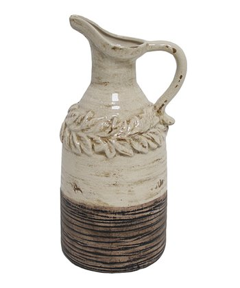 White & Brown Granzin Pitcher