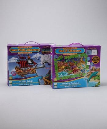 Puzzle Doubles! Pirate Adventure & Dinosaur Puzzle Set
