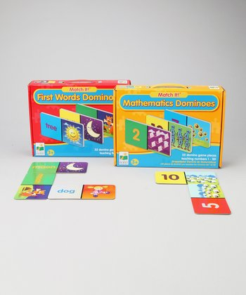 The Learning Journey Match It! Mathematics & First Words Dominoes