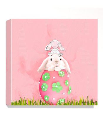 Easter Bunny Giclée Canvas Print
