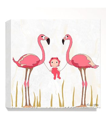 Flamingo Giclée Canvas Print