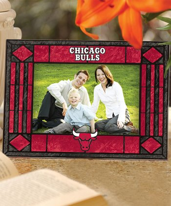 Chicago Bulls Art Glass Horizontal Frame