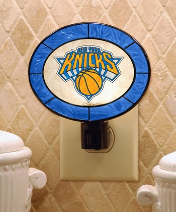 New York Knicks Art Glass Night-Light
