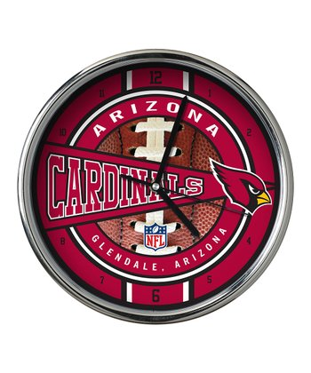 Arizona Cardinals Chrome Clock
