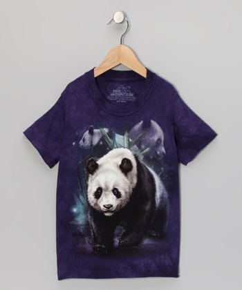Purple Panda Collage Tee - Toddler & Girls