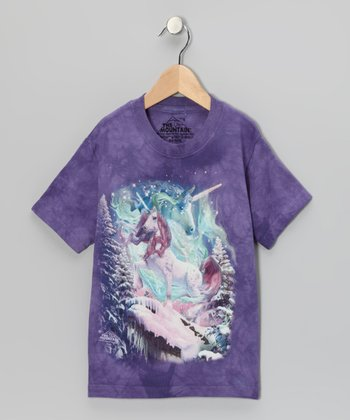 Purple Aurora Unicorn Tee - Toddler & Girls