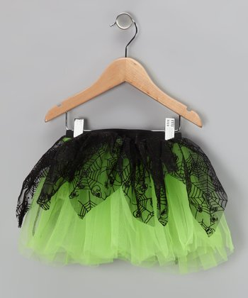 Lime Spiderweb Tutu - Infant, Toddler & Girls