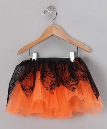 Orange Spiderweb Tutu - Infant, Toddler & Girls