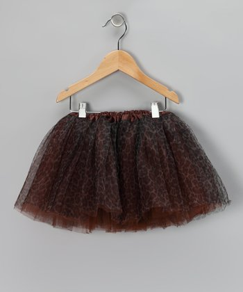 Brown Cheetah Tutu - Toddler & Girls