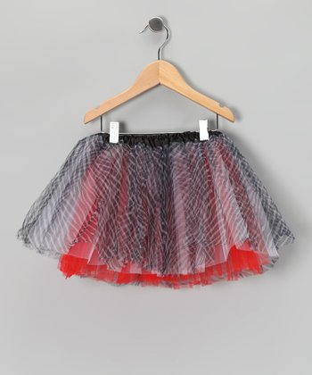 Red & Black Zebra Tutu - Toddler & Girls