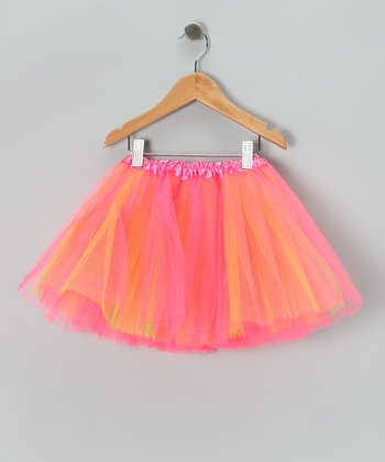 Hot Pink & Lime Tutu - Toddler & Girls