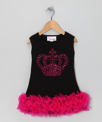 Black Crown Ruffle Dress - Infant, Toddler & Girls
