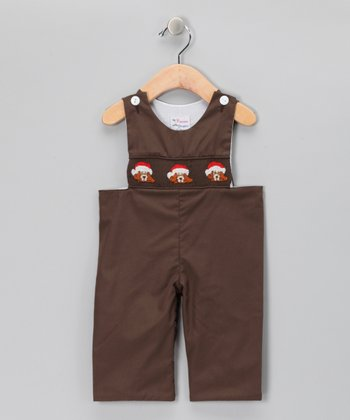 Brown Santa Bear John Johns - Infant
