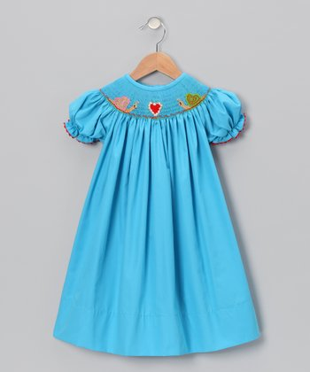 Blue Snail Bishop Dress - Infant & Toddler