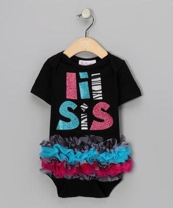 Black 'Lil Sis' Ruffle Bodysuit - Infant