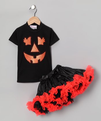 Jack-o'-Lantern Tee & Pettiskirt - Infant, Toddler & Girls