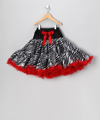 Red Zebra Pettiskirt - Girls