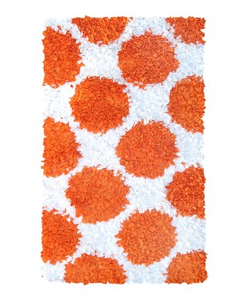Orange Polkamania Shag Rug