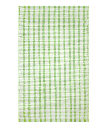 Green Plaid Rug