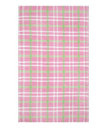 The Rug Market Pink Plaid Rug