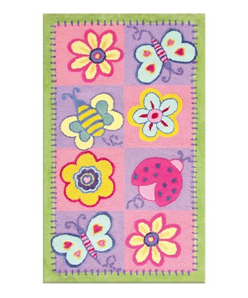 Flower & Butterflies Rug