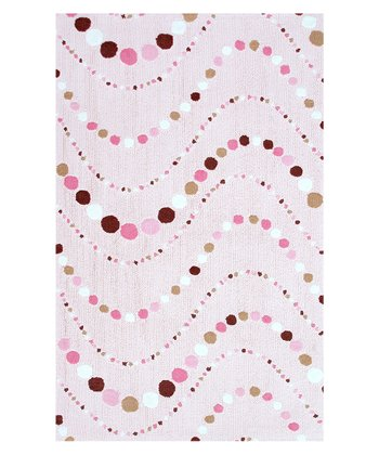 Pink & Brown Dot Mania Rug