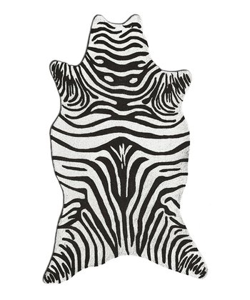 Black Zebra Shape Rug