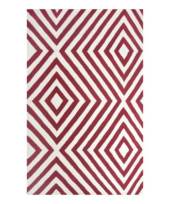 Red & White Zuel Rug